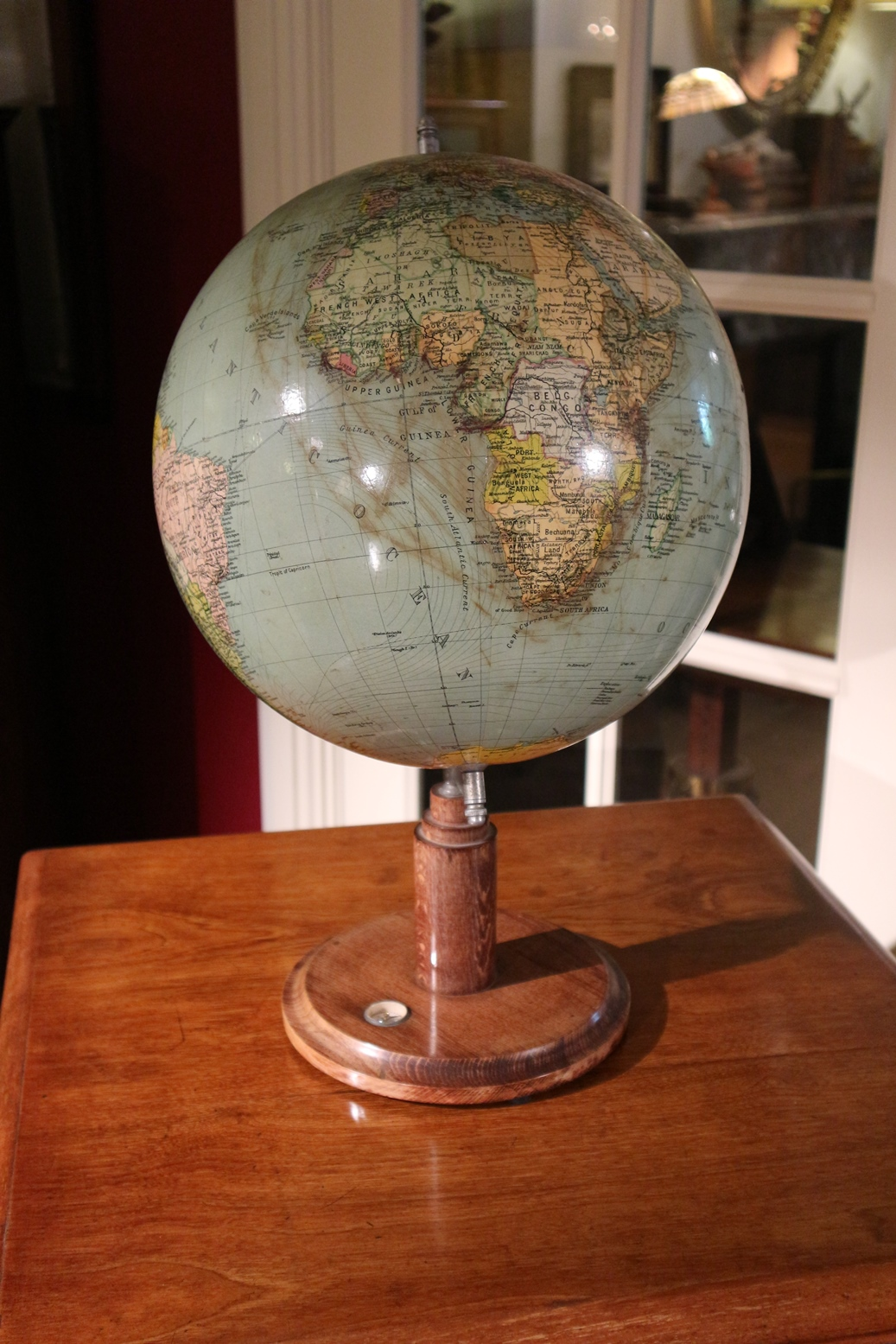 Verbazingwekkend Oude Globe / wereldbol - Antiek Arcade de specialist in Engels antiek WJ-13