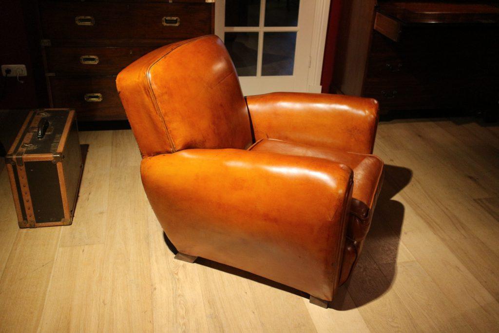 Fonkelnieuw Art Deco leren club fauteuil - Antiek Arcade de specialist in JD-19